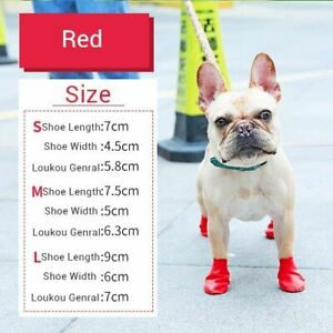 Pet Dog Shoes Rain Boots Rubber Waterproof Footwear For Small Cats Dogs Puppy