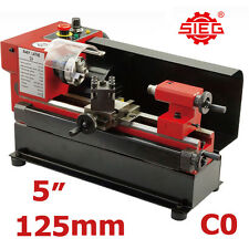 """SIEG C0 5"""" (110x125mm) Variable Speed Mini Metal Hobby Lathe, with turning tools"""
