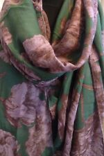 CODELLO Tuch Schal 49,95 NEU Blumen lila braun grün dunkelgrün