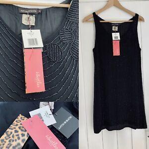 Whistles Antik Batik Ltd Edition Gatsby Beaded Long Top Short Dress Sz S £145.00