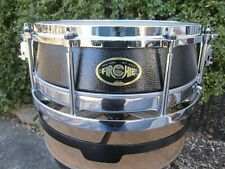 Firchie TM 1 Rotational Tuning Snare Drum Black First Generation 1990's w/ bag