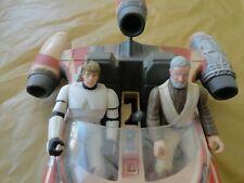VINTAGE 1995 Kenner Hasbro STAR WARS POTF2 LANDSPEEDER Luke Obi Wan figures lot