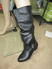 New Women's Mossimo Black Kaylor, Extended Calf Boots - Size 6 1/2 Free Shipping