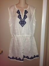 TORY BURCH LINEN LADIES WHITE TUNIC DRESS SIZE LARGE NEW.