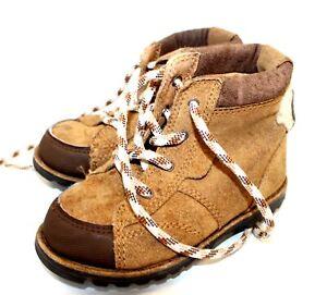 Infants UGG Australia Brown Lace Up Ankle Kids Boots Size UK 6  - C09