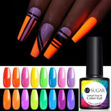 UR azúcar 7.5ml Fluorescente Gel Nail Polish Brillan en oscuridad neón Soak Off Gel Uv Led