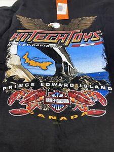 Rare NWT 2001Harley Davidson Prince Edward Island  Canada  T Shirt Size XL