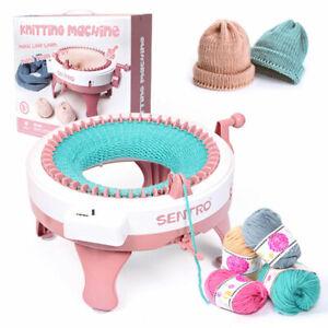 DIY Knitting Machine Smart Weaving Knit Rotating Kids Toy Scarf Sock Hat AU