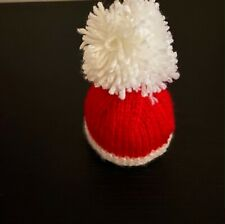 Hand Knitted Christmas Santa Hat Chocolate Orange/Bath Bomb Cover for Charity