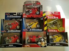Lot of MAISTO 7 Ducati 2 Wheel Motorcycles Die Cast 1:18 New in Boxes