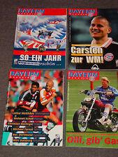 4 x FC Bayern München rivista del 1998 (N. 10, 11, 12, 13) tutti con poster