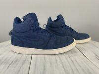 Nike Court Borough Mid Sneakers Blue Denim Jean Chambray Size 10 Fast Shipping