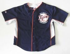 M (5-6) Youth Child Majestic Justin Verlander Detroit Tigers Baseball Jersey EUC
