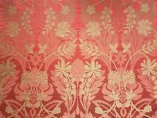 Harlequin Curtain Fabric AKIRA 3.85m Scarlet/Almond Silk Mix Damask Weave Design