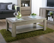 UNIQUE EXCLUSIVE CANYON OAK EFFECT 3D DESIGN FINISH COFFEE TABLE BY ZEST INT.