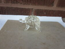 """Turtle Tortoise Crystal 3"""" Figurine Paperweight Handmade South Wales Glass Exc"""