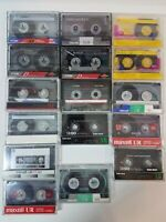Lot of 16 Pre-recorded Cassettes Sold as Blanks 60 and 90 minute
