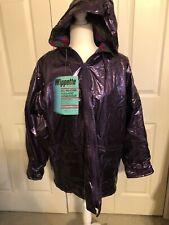 Wippette Rainthings Purple Metallic Flannel Lined -Hood Jacket Size Medium-NWT