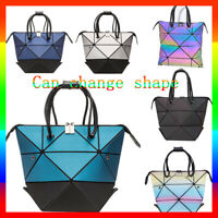 丿丿2020 Geometric Bag Changeable shape Luminous Purses Top Handle Satchel Shoulde