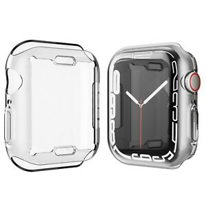 For Apple Watch Series7 Full Body Tpu Screen protector Cover Case iwatch 41/45mm