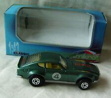 old green metalic Datsun 240 Z rally car toy model 1974 1:43 MIKRO Bulgaria