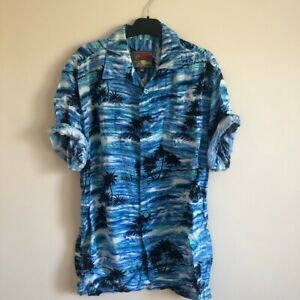 Mens Hawaiian Vintage Party Shirt Size M