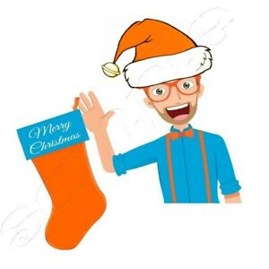 Iron on Transfer  BLIPPI MERRY CHRISTMAS  13X13CM
