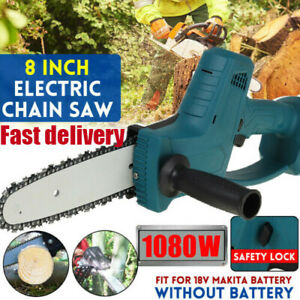 8inch Electric Cordless Chainsaw Chain Saw Wood Cutters Tools For Makita Battery