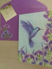 gorgeous Papyrus Hummingbird Card Glitter Small Blank Note Card-greeting card