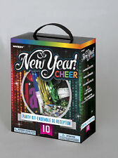 New Year Party Kit for 10 People Hats Tiaras Squawkers Necklaces Confetti