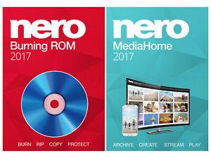NERO BURNING ROM & MEDIAHOME STANDARD ★ VOLLVERSION ★ BURN & ARCHIVE 2017 CD DVD