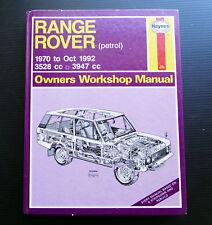 RANGE ROVER 1970-92 V8 Petrol Engine Workshop Service Repair Manual 3528 3947 cc