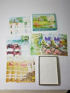 Panascenics Vintage BOX Of 10 Get Well Greeting Cards And Envelopes