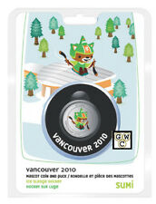 2008 Vancouver 2010 Mascot Puck & Colorized 50ct-Para Sledge Hockey(12374)(OOAK)