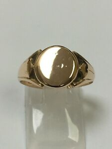 Superb Antique 9 Carat Rose Gold GENTS SIGNET Ring Chester 1911