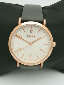 DKNY MINETTA WATCH NY2652 WOMENS GOLD STAINLESS STEEL LEATHER GENUINE