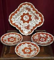 Antique Austrian Bohemia Porcelain Chinoiserie Dessert Set Bowl Plates Boseck co
