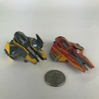 STAR WARS DIE CAST SHIP LOT JEDI STARFIGHTER ANAKIN HOT ROD LOOSE TITANIUM C61