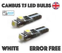 CANBUS T5 LED INTERIOR BULBS 286 12V WHITE ERROR FREE BMW VW AUDI MERCEDES