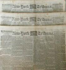 3 Important 1863 Civil War Papers Lincoln Letter Conscription Bill Copperheads