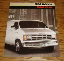 Original 1988 Dodge Ram Van Deluxe Sales Brochure 88
