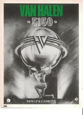 VAN HALEN 5150 UK magazine ADVERT / mini Poster 11x8""
