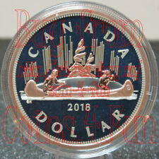 2018 Canada Big Coin Series #1 Voyageur $1 5 OZ Pure Silver w/ Rose Gold Dollar