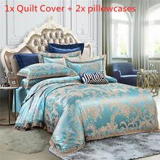 Satin Jacquard Bedding Set Luxury European Style Duvet Quilt Cover & Pillowcases