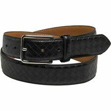 Ben Sherman Mens Leather Classic Odoffin Belt Black/Silver- New RRP £29.99 +
