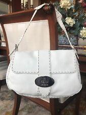 8c158e70e4 Fendi Selleria shoulder bag in white leather