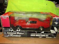 1968 Ford Mustang Gt Course Faites Glisser Roulis Capot Tachymètre 1/18 Ertl