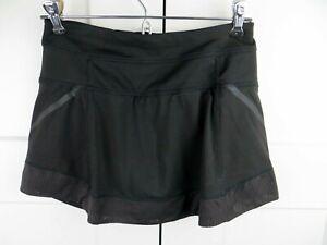 Athleta black athletic skirt skort shorts XXS zipper pocket  running tennis