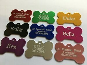 Personalised Pet Id Tag, Dog Identification Tags, Engraved, laser engraving, dog