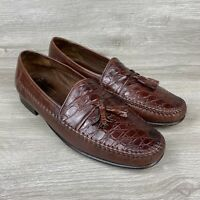 Johnston Murphy Domani Men's Brown Leather Tassel Loafers Shoes Size 12 M